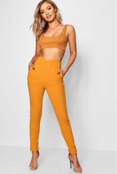 Pantalon jaune boohoo